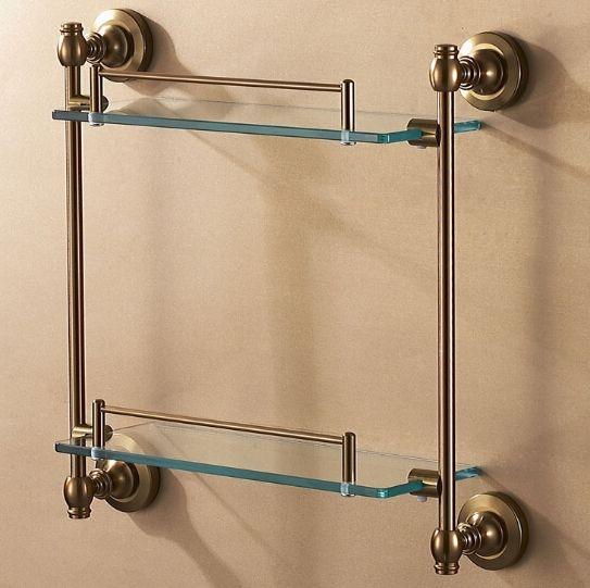 28.49$  Watch now - https://alitems.com/g/1e8d114494b01f4c715516525dc3e8/?i=5&ulp=https%3A%2F%2Fwww.aliexpress.com%2Fitem%2FSpace-aluminum-Antique-Bathroom-shelf-glass-bathroom-holder-rack-bath-shower-holder-shower-room-suction-wall%2F32366873851.html - Space aluminum Antique Bathroom shelf glass bathroom holder rack bath shower holder shower room suction wall shelf
