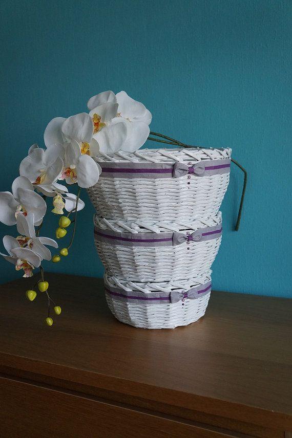 Decorative paper baskets (3 pieces)