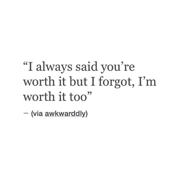 I'm worth it too