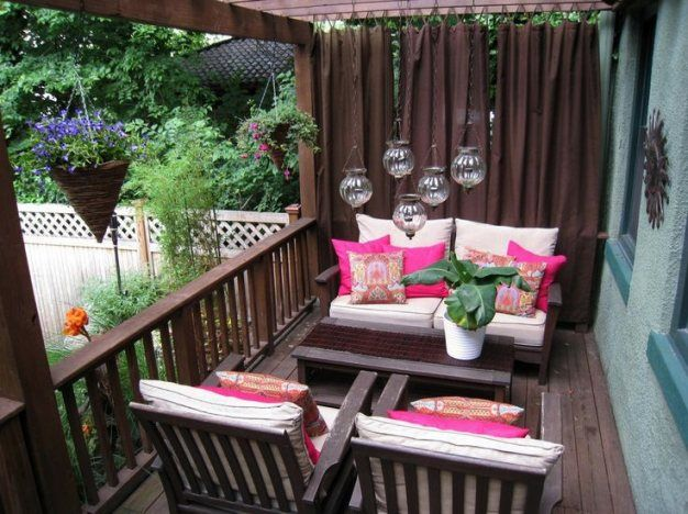 Deck Curtain Ideas Photo 2 Deck Privacy Curtains And Plants