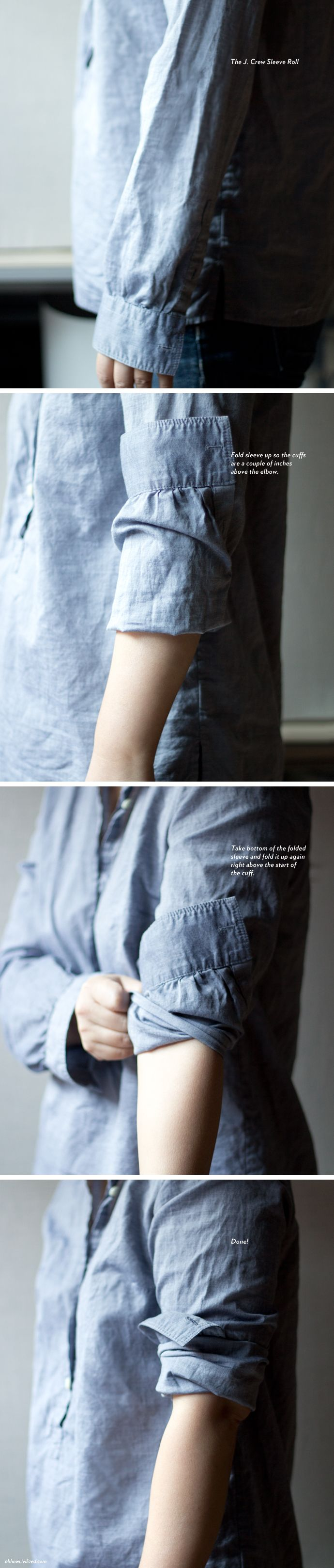 The J. Crew Sleeve Roll — Oh, How Civilized