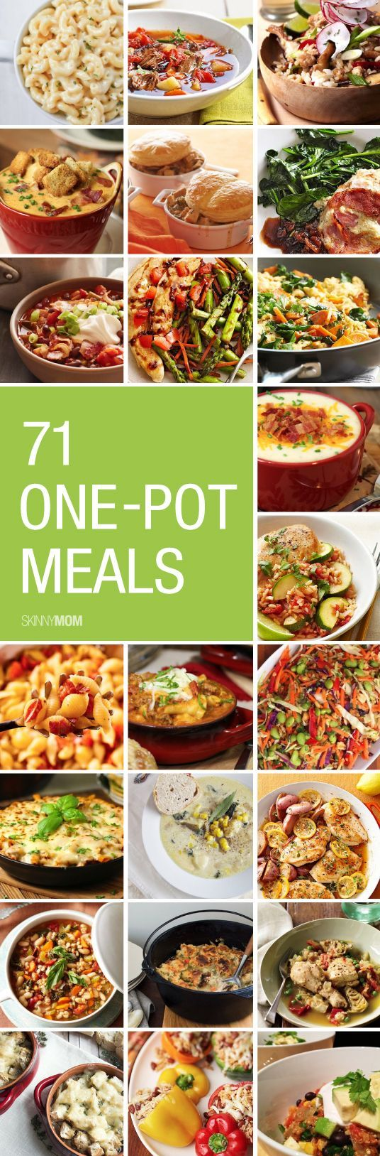 Looking for some quick and easy recipes with little clean up. Check out our list of 71 one-pot meals!: