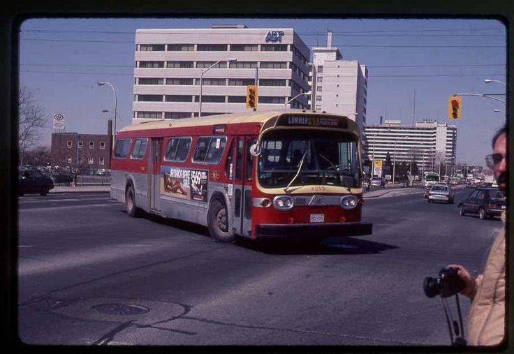 TTC Toronto original bus slide # 8053 taken 1984