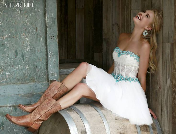 Love the dress with boots look!