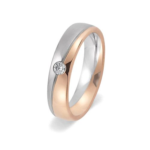 Fancy Rose and white gold diamond set wedding or engagement ring by Woolton u Hewitt