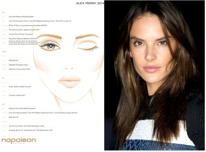 BACKSTAGE AT ALEX PERRY MBFWA 2014 'VARSITY' COLLECTION - NAPOLEON OFFICAL MAKE-UP - ALESSANDRA AMBROSIO