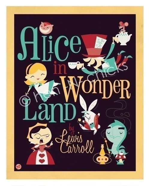 Alice in Wonderland 8x10 print. By henNchicks on etsy.