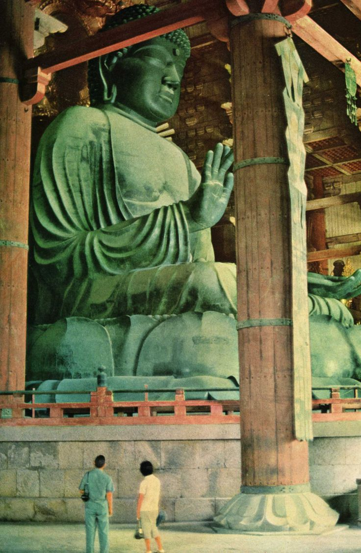 Great Buddha at Todai-ji temple in Nara.... I noticed someone had pinned this... and I've actually been here!! :)