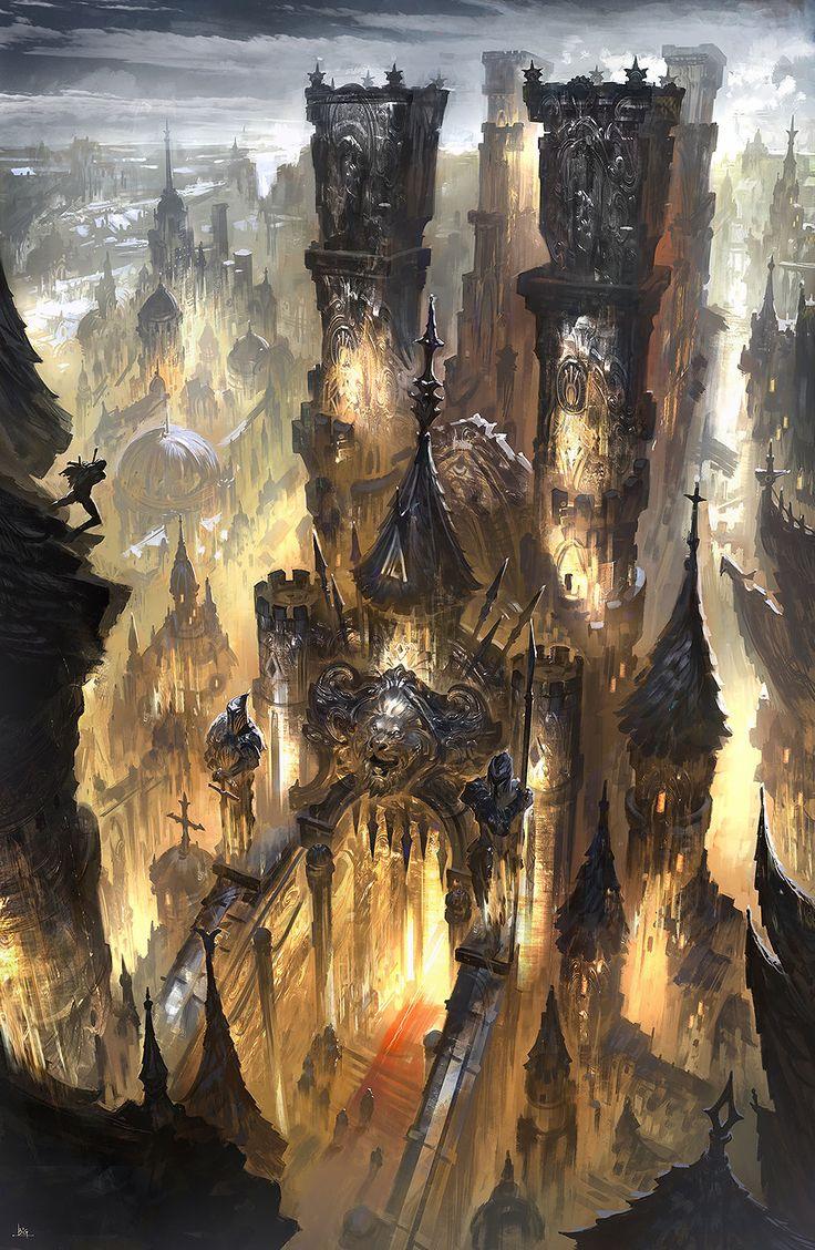 Imperial Palace by bigball gao #Art #Sci-fi #fantasy