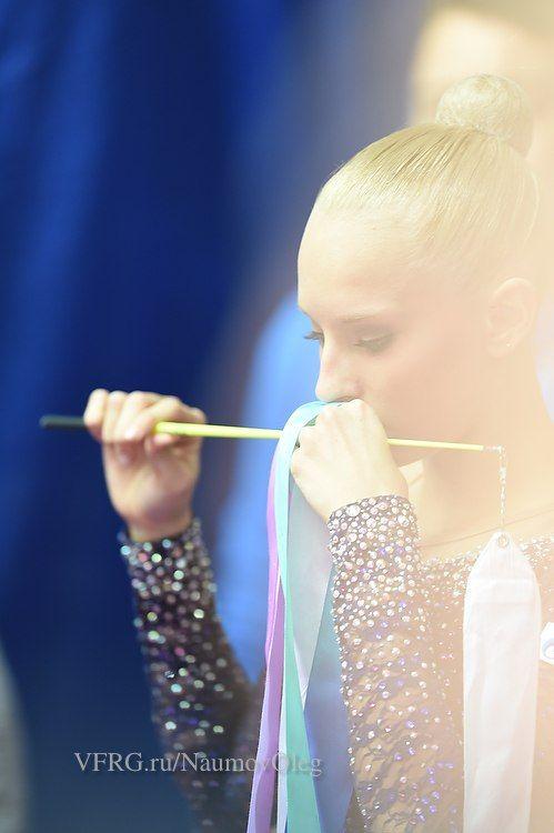 Yana Kudryavtseva (Russia), backstage Grand Prix (Moscow) 2015