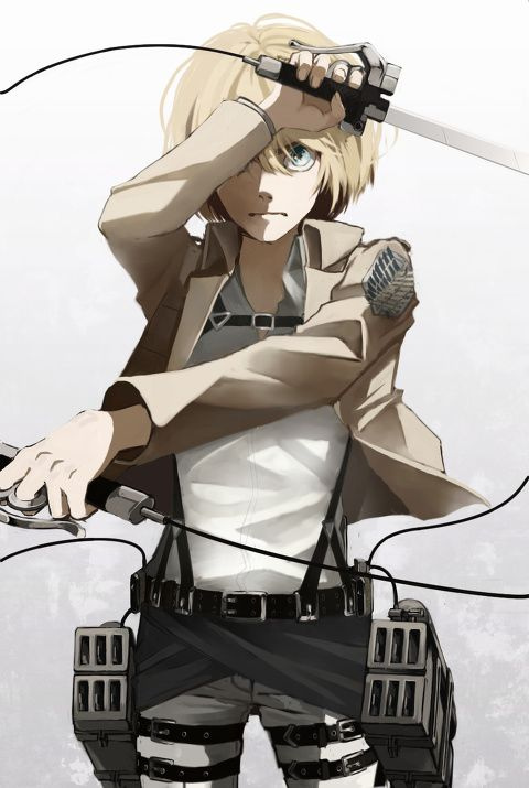 Armin -I am really surprised that Armin is still alive (I'm glad he is though!) He just seems like the weakest one.. Although he is more of a problem solver in battle.