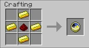 Minecraft redstone clock crafting recipe