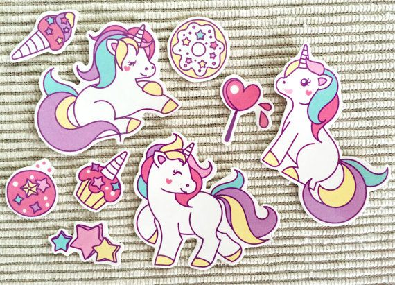 Temporary tattoo unicorno tatuaggi temporanei rosa di Verifly