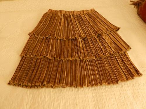 Vintage Jeanne Marc Three Layer Gold Skirt Sz 4 6   eBay