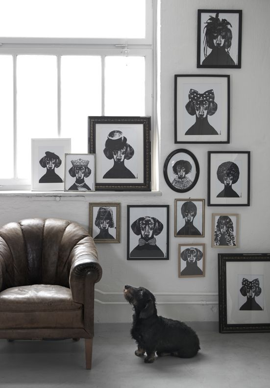 {Lisa Bengtsson Tillsammans Posters}: Dachshund, Pet, Dogs Art, Galleries Wall, Poster, Dogs Pictures, Lisa Bengtsson, Families Portraits, Dogs Portraits