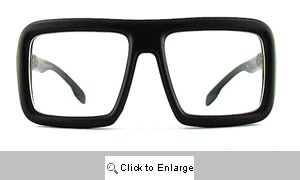 Easton Big Square Clear Lens Glasses - 102 Black