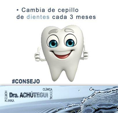 Cambia de cepillo de #dientes cada 3 meses.