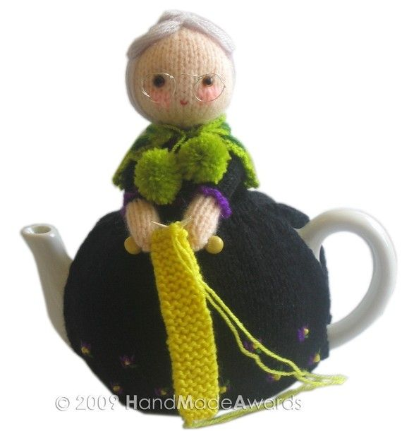 Sweet OLD LADY Tea Cosy  Pdf Email Knit PATTERN by HandMadeAwards, $4.50