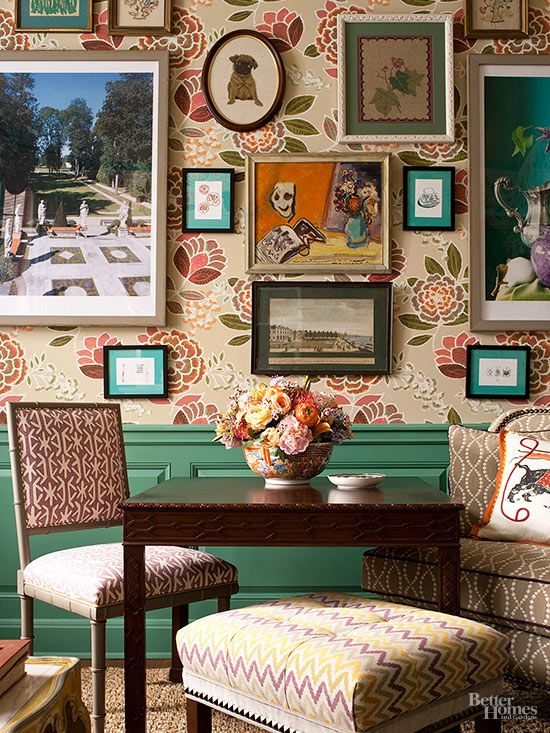 You know it's a style success when your dining room decor looks as pretty as the food. Framed artwork makes the dining room at Sookie's Dragonfly Inn pop out like a storybook. Upholstered benches and chairs prevent the look from feeling too stuffy.