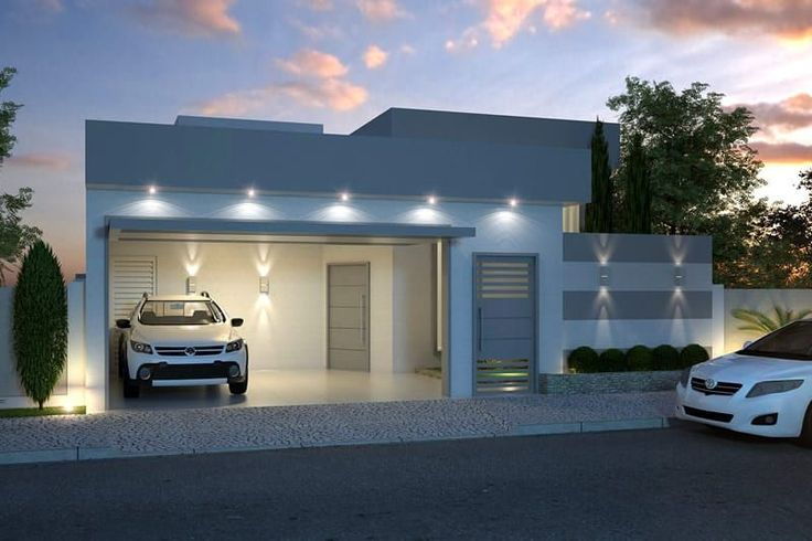 Plano de casa moderna de un piso contemporary for Planos para casas de un piso