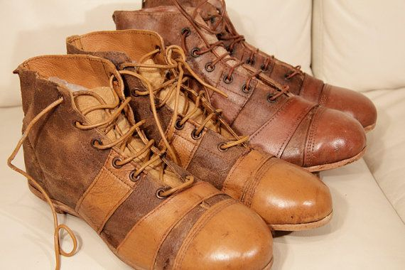Old leather soccer boots  Handmade in England by Benetflo on Etsy, €84.00