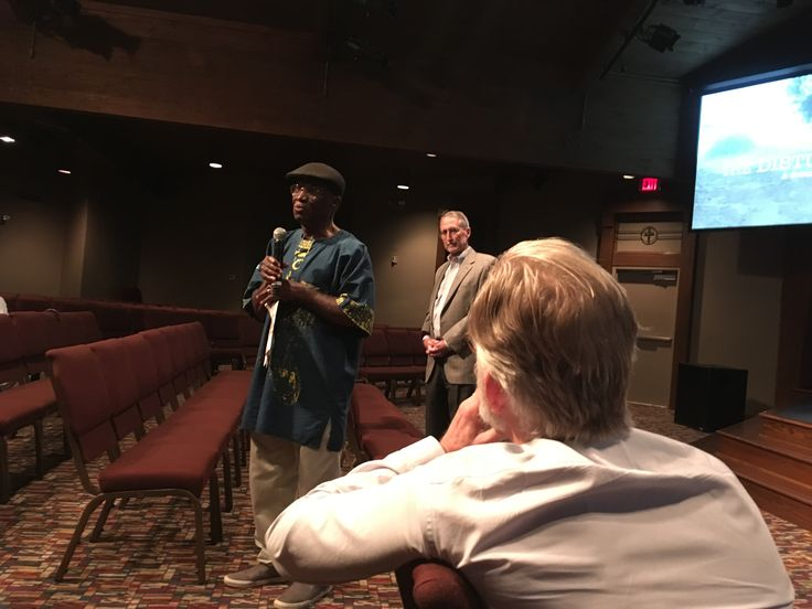 """Dialogue following a screening of """"The Disturbances"""" at Christ Church Nashville on Sept. 8. Photo by Cliff Vaughn."""