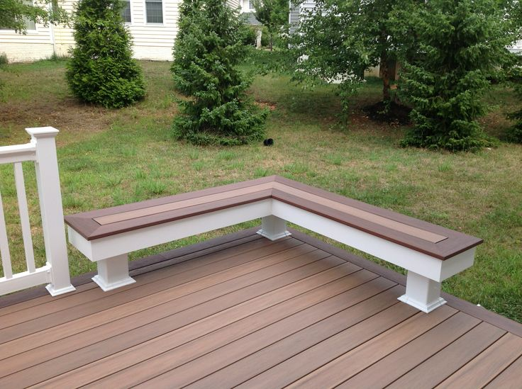 Vinyl Bench Using Wolf Pvc Decking Amberwood With Rosewood