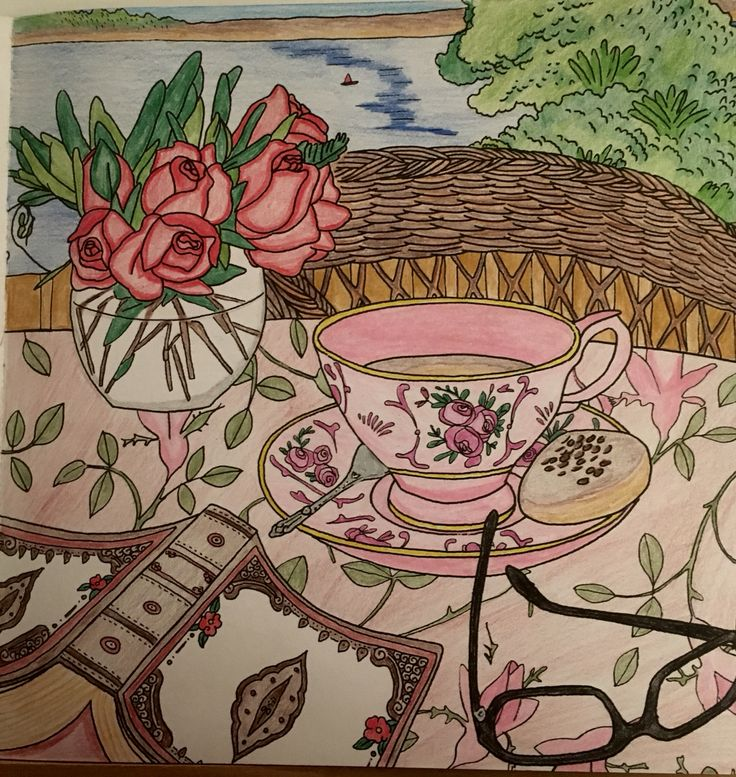 Tea time -colored by Cheryl Krumm