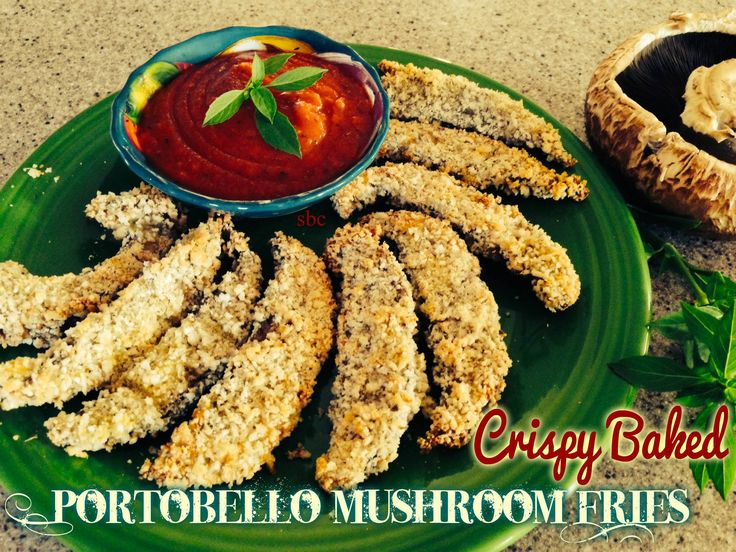 Crispy Baked Portobello Mushroom Fries | Healthy Recipes | Pinterest
