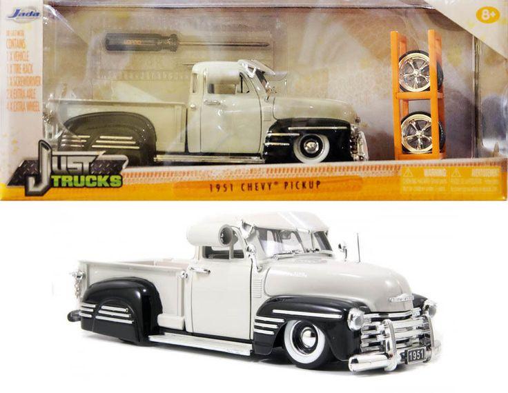 1951 Chevy Pickup mit Satz Reifen & Felgen Chevrolet 1:24 Jada Toys 54027 in…