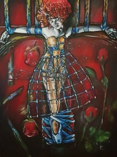 "Saatchi Art Artist Lize Du Plessis; Painting, ""The Critics Arts Puppet Crucified"" #art"