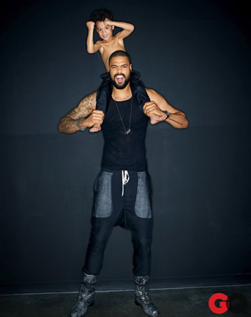 Tyson Chandler and son