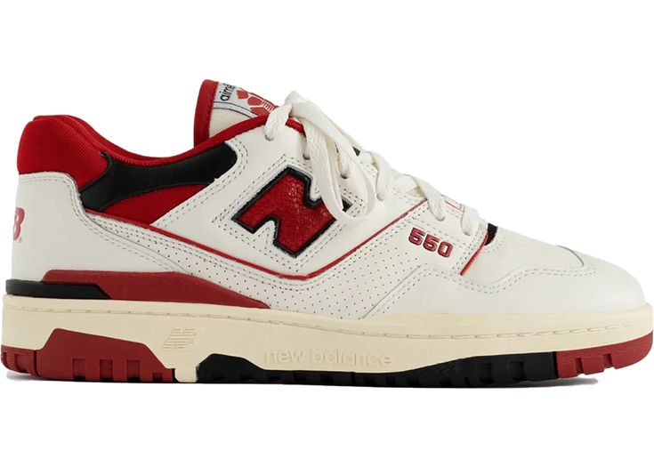 New Balance 550 Aime Leon Dore White Red | Swag shoes, Sneakers ...