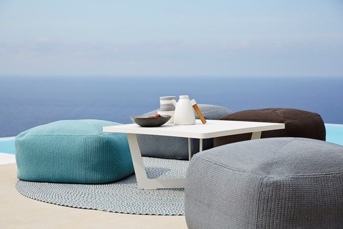 """Divine"" footstools by cane-line outdoor furniture"