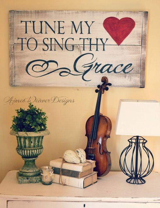 Cute idea for a music room  <3