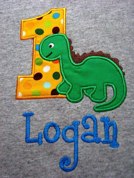 First Birthday Dinosaur Shirt For Boys