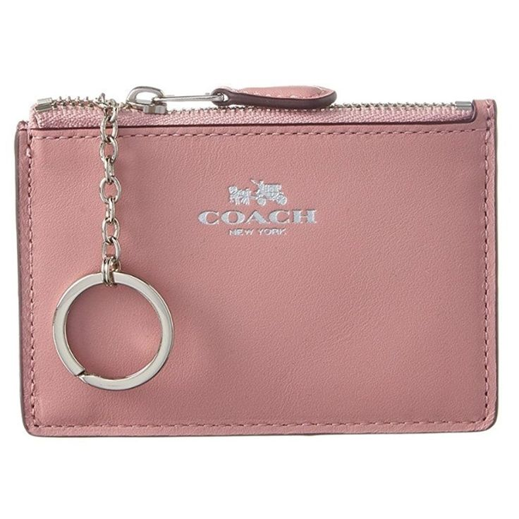 Coach Box Program Silver/ Mini ID Skinny Wallet