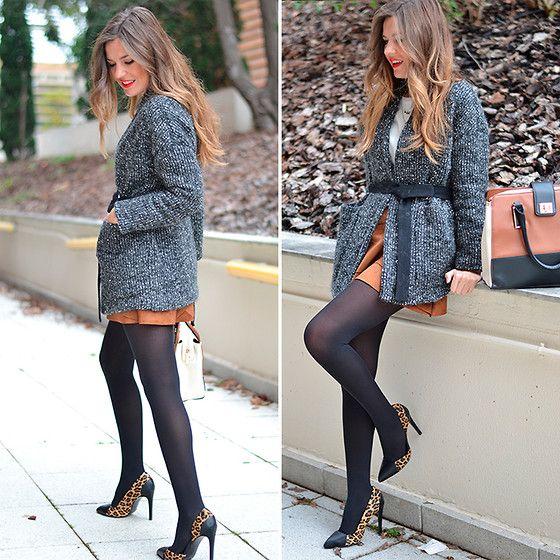 A line sueden skirt