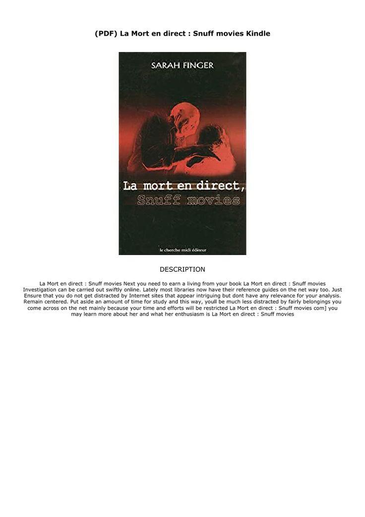 Pdf La Mort En Direct Snuff Movies Kindle Ebook Pdf Download Audiobook Epub Directions Reading Movies