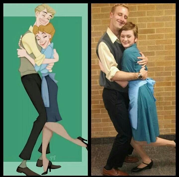 DIY Disney Costumes For Adults | Roger and Anita from 101 Dalmations Awwww they look so cute!!