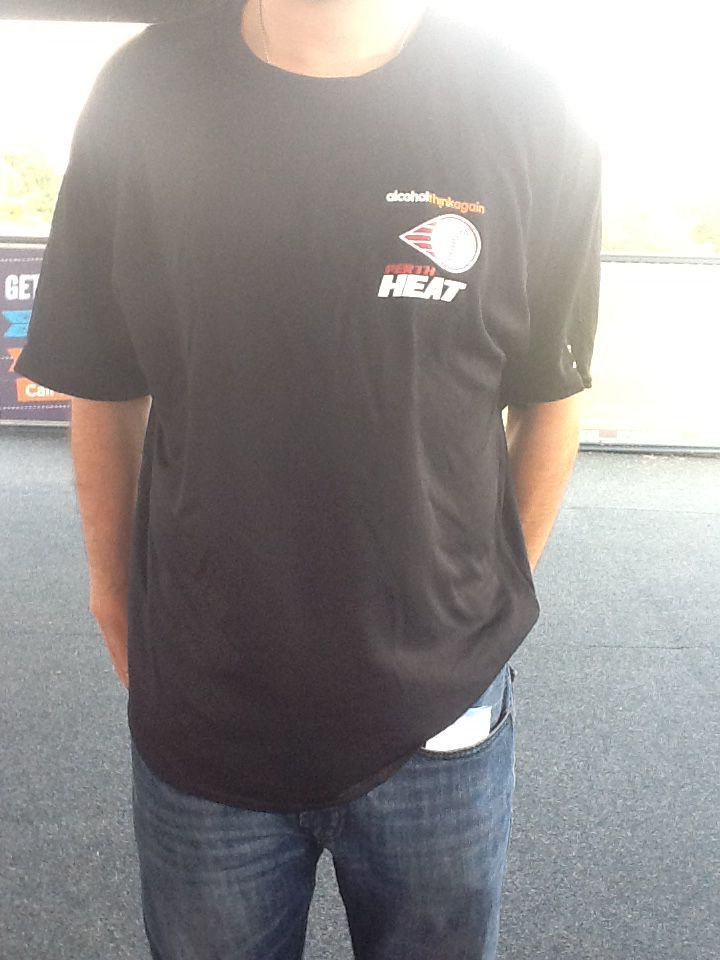 Perth Heat Short Sleeve Power Dry Jersey $40 Can be purchased on game day or contact us at 08 6336 7950 or perthheatmerch@gmail.com