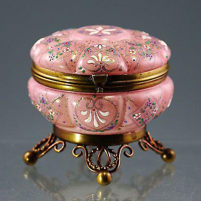 Details About Antique Bohemian Moser Enameled Art Glass