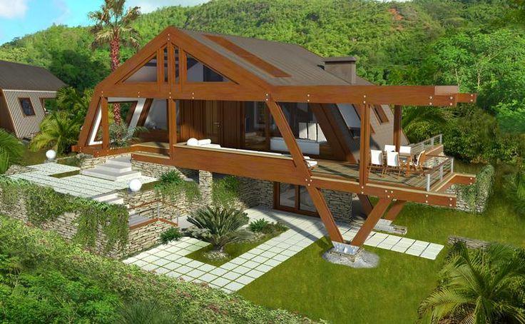 Aceste case moderne din lemn imbina armonios un material de constructie traditional cu liniile ferme ale designului contemporan.