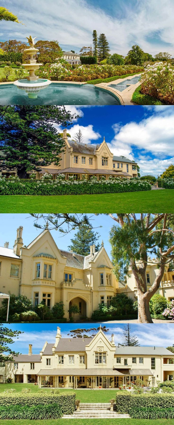 Morning Star, Mount Eliza (60km S of Melbourne), was purchased in 1865 by Londoner Francis A. Gillett, 12 yrs after arriving in the colony. He designed and built the Gothic Revival mansion (originally 'Sunnyside') in c1867-70. In 1932 the large beachfront estate was sold to the Catholic Church and, until 1975, became the notorious Morning Star Boys' Home. Used as a hotel and restaurant since then; sold June 2017 to a Chinese investor for $36.2 million.
