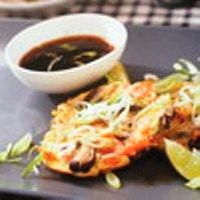 Recepten en zo: Aziatische garnalenomeletjes (gourmet)