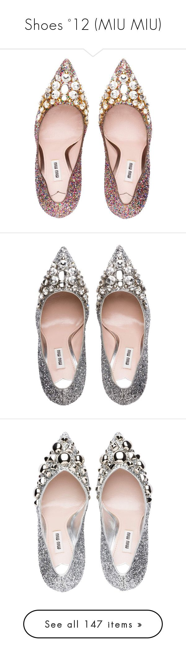 """""""Shoes °12 (MIU MIU)"""" by monazor ❤ liked on Polyvore featuring shoes, pumps, decorating shoes, swarovski crystal shoes, miu miu pumps, glitter high heel pumps, glitter high heel shoes, heels, high heel shoes and glitter heel shoes"""