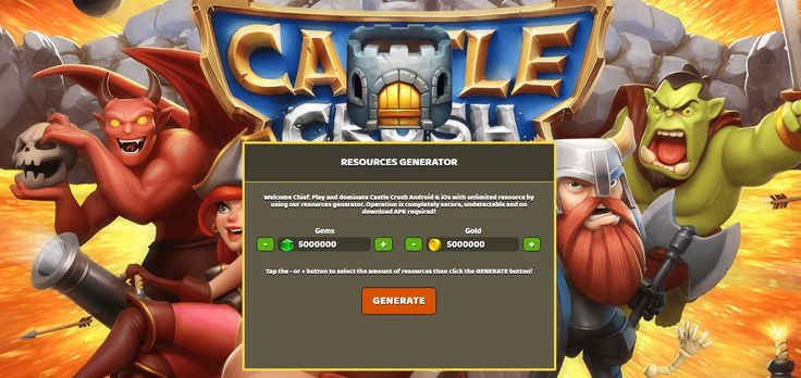 - Unlimited Gems - Unlimited Gold   Castle Crush Hack Cheats:  http://resources-generator.online/castle-crush.html