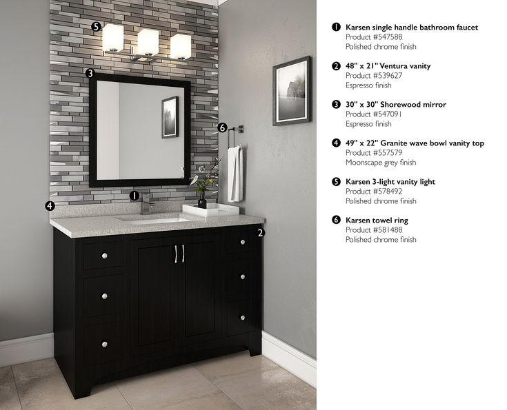 Design House 547091 30inch By 30inch Vanity Mirror Espresso Check Out This Great Product It Is An Affiliate Link 30 Inch Vanity House Design Vanity Mirror