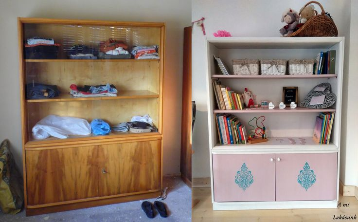 retro szekrény felújítása, DIY