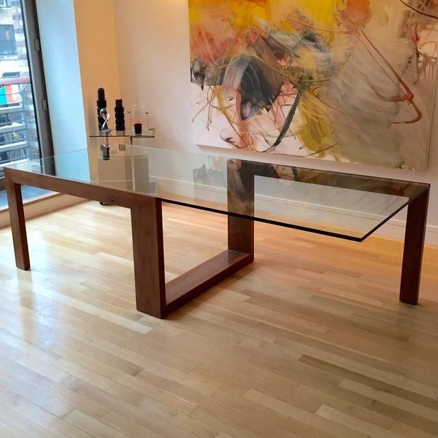 Image Of Contemporary Glass Top Dining Table Diningtable Mesa